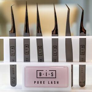 BIS Pure Lash PRO Tweezers for Eyelash Extension Silver soft, EU seller