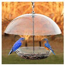 "Audobon 24213 11.75"" Clear Dome Top Seed & Bluebird Bird Feeder"
