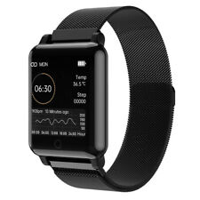 Temperature Smart Watch Heart Rate Blood Pressure ECG Oxygen Monitor Thermometer