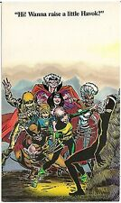"""Wanna Raise a Little Havok?"" Postcard Marvel Comics 1987"