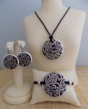 "Brighton ""Anahita Black"" Necklace Bracelet & Earrings - 3 piece set"