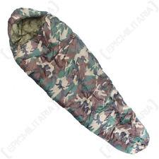Mummy Sleeping Bag (400 GR) - Woodland Camo - Army Camping Adult Single New