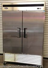 New 2 Door Reach In Freezer Atosa Mbf8503 #1931 Commercial Stainless Steel Nsf
