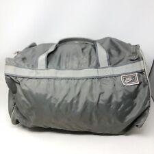 Nike Vintage Gray Handle Duffle Athletic Gym Bag Tote Swoosh Logo Workout
