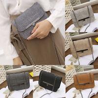 Fashion Women Lady Leather Shoulder Handbag Chain Crossbody Messenger Bag Purse