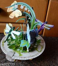"""3D Pop Up Carte Par SANTORO GRAPHICS-Pirouette cartes """"Papillon et Libellule"""""""