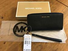 Authentic Michael Kors Jet Set Travel Black Wrislet Purse Wallet