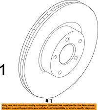 FORD OEM 13-16 Escape Front Brake-Disc Rotor CV6Z1125A