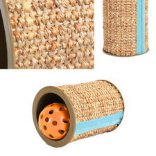 New listing 1Pc Funny Pet Cat Sisal Scratching Roller Cats Scratch Post with Bell Ball Toy