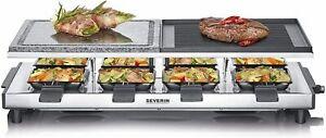 SEVERIN RG 2373 Raclette Temperaturregler Antihaftbeschichtung 1500 Watt