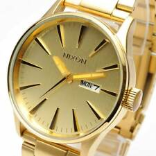NIXON Sentry SS All Gold Mens WATCH NEW IN BOX A356-502