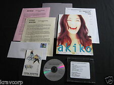 AKIKO/COSA NOSTRA—1995 PRESS KIT w/CD—TOY'S FACTORY J-POP