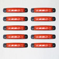 NUEVO 10 x 12v LED Rojo Luz de señalización para OPEL VW DINKY FORD Plymouth