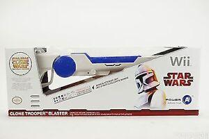 NEW Power A CPFA330048 Nintendo Wii Star Wars White Clone Trooper Blaster Gun