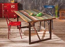 ESSTISCH, massives Mangoholz, Gestell Metall Rusty-Look 160 x 90 cm NEU & OVP