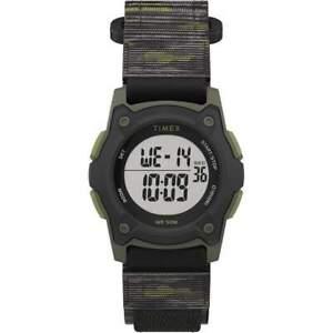 Timex Kids Digital 35mm Green Camo Fast Wrap Watch #TW7C77500XY