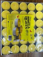 Deluxe Citronella Tea Lights Candles - 60 Pack - Naturally Scented Burns 4 hours