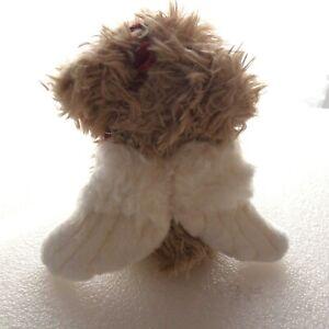 "First & Main Plush Angel Bear No. 1302 7"" Stuffed Animal Wings Roses"