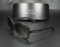 ARMANI EXCHANGE AX4029S 800411 Glossy Black Grey Grad 57 mm Women's Sunglasses
