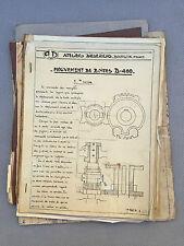 Anciens documents technique métier à tisser vieux papiers french antique