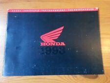 HONDA, Genuine Brochure, Motorcycle Range, 1993