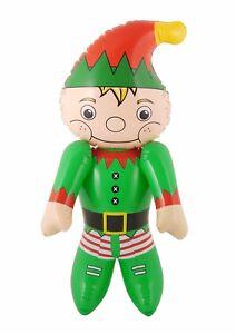 Inflatable Elf 120cm Santa's Helper Christmas Xmas Decoration Grotto Party Kids
