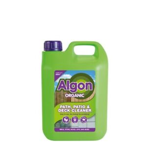 3 X 2.5L Algon Organic Concentrate Path And Patio Outdoor Cleaner Moss Algae