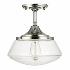 Capital Lighting 3533PN-134 1 Light Ceiling Semi-Flush Fixture, Polished Nickel