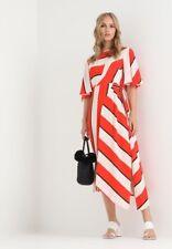 Topshop Diagonal Stripe Midi Dress Size 6 SOLD OUT