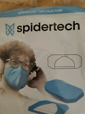 Spidertech kinesiology tape face mask, blue, new, single use only, 20 pack