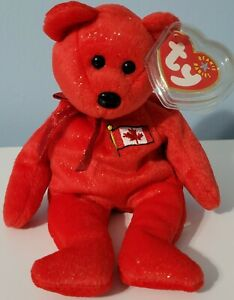 Canadian Bear Ty Beanie Babies Pierre Plush Flag Country Exclusive 2001 NWT