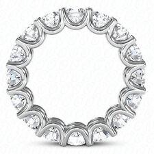 5.1 ct Round Diamond Eternity Ring 14k Gold U Band 17 x 0.30 ct E-F Vvs Gia sz 7