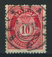 Norway 1909-19, NK 100 Son Superb Hullstempel Bækkelaget 7-V-1918 (AK-Grade 3)