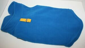 Gooby Fleece Vest Pullover Jacket w/Leash Ring Deep Blue FOR SMALL BREED DOG