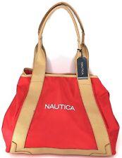 Nautica Island Ferry Tote Bag Overnight Bag Shopper Handbag Large Expandable Red