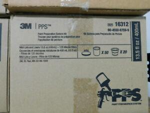 3M PPS AUTOMOTIVE PAINT PREPARATION SYSTEM KIT #16312  Lids Liners & Filters