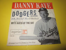 "DANNY KAYE - DODGERS SONG 7"" 45 PICTURE PIC SLEEVE BASEBALL COMEDY"