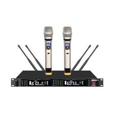 Professional wireless headset microphone Dual Channel UHF wireless microphone