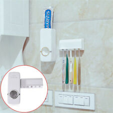 2PC Auto Automatic Toothpaste Dispenser Holder Wall Mount Stand Supply