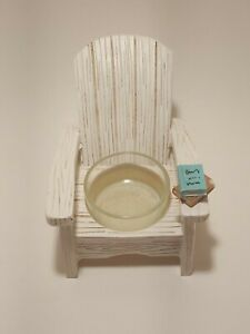 YANKEE CANDLE WHITE ADIRONDACK BEACH CHAIR TEA LIGHT CANDLE HOLDER