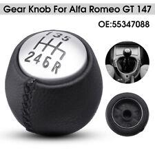 6 Pommeau Levier de Vitesse Manuel PU Cuir pour Alfa Romeo GT 147 166 55347088