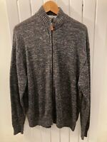 Inis Mean Men's zip up cardigan 100% Linen XXLmulti-colour fleck
