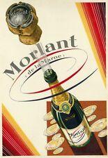 """""""MORLAND"""" Affiche d'intérieur originale entoilée  Litho vers 1925  29x40cm"""
