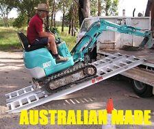 2.5 Tonne Capacity Excavator Machinery Ramps 3.3 Metres x 350mm Track width