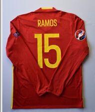 Sergio Ramos Spain Jersey 2015 2016 Home L Shirt Mens Long Sleeve Adidas ig93