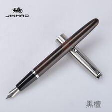 Jinhao 51A Ebony Wood Fountain Pen Metal cap Fine Nib F/0.5mm Writing Gifts