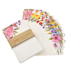 50 Pcs Flower Paper Message Greeting Cards Blank Christmas Gifts Postcards Set