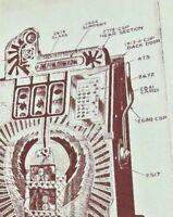 1920 1930 Vintage Mills Slot Machine Repair Poster 24x20 Steampunk Art Speakeasy