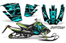 Arctic Cat Sno Pro Race Sled Wrap Snowmobile Decal Graphic Kit NIGHTWOLF MINT