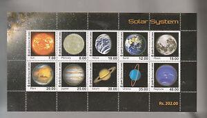 RO) 2014 SRI LANKA,SOLAR SYSTEM -ASTRONOMY -PLANETS, BLOCK MNH